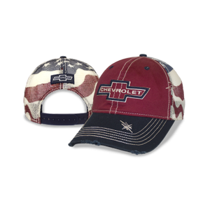 Chevrolet Heritage Red American Flag Mesh Back Cap - GM Company Store