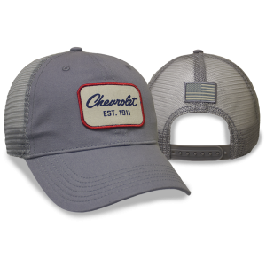 Chevrolet 1911 Script Logo Gray Cap Old School Patch - GM Company Store
