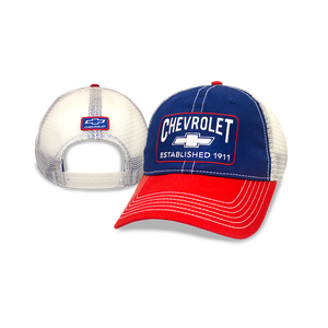Chevrolet Royal and Red Twil Contrast Stitch Cap - GM Company Store