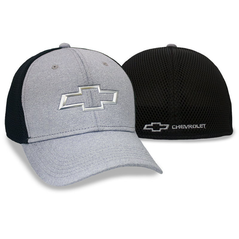 Chevrolet Chrome Bowtie Grey/ Black Fitted Cap