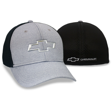 Chevrolet Chrome Bowtie Grey/ Black Fitted Cap - GM Company Store