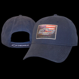 Chevrolet Navy Cotton  American Flag Patch Cap - GM Company Store