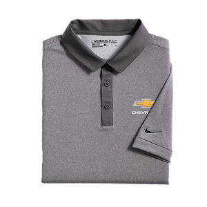 Chevrolet Nike Modern Fit Dri-Fit Gray Men's Polo - GM Company Store