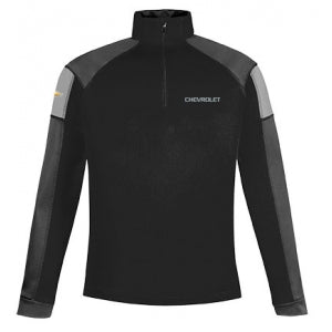 Black Performance Half Zip Chevrolet Pullover Jacket - GM Company Store