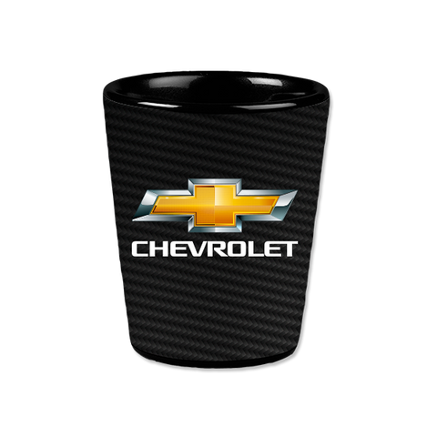 Carbon Fiber Chevrolet Ceramic Shot Glass - GM Company Store