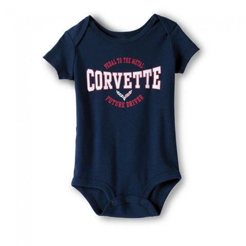 Corvette Youth Onesie-Blue
