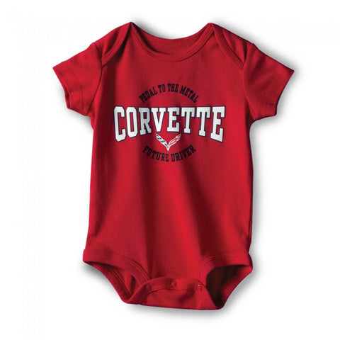 Corvette Youth Onesie Red