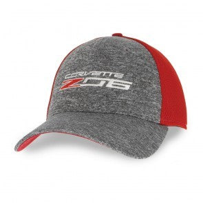 Z06 New Era Fitted Cap -Scarlet Red/Shadow Heather - GM Company Store