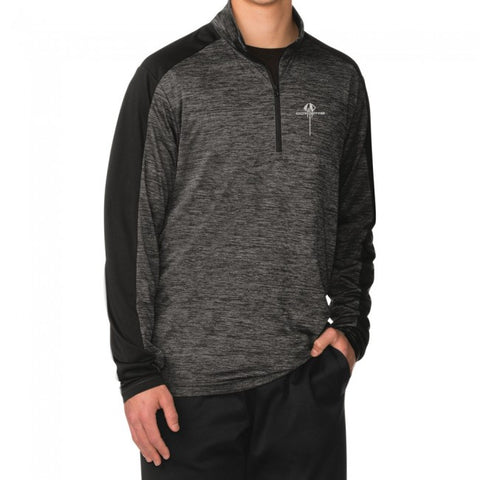 C7 Stingray Quarter- Zip Pullover - Gray Black / Electric Black - GM Company Store