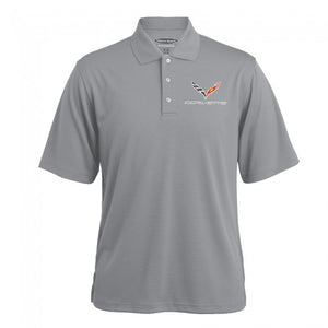 Corvette C7 Texture Polo-Gray Heather - GM Company Store