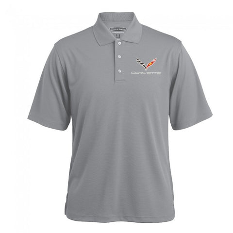 C7 Texture Polo-Gray Heather - GM Company Store