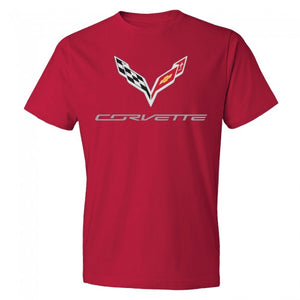 C7 Crossed Flags Tee- Red - GM Company Store