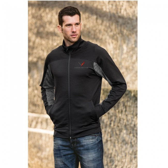Next Generation Men's Stormtech Lotus Full Zip Jacket Black/Carbon - GM Company Store