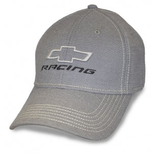 Chevy Lt Grey Fitted Hat w/Stone Stitching Open BT Racing - GM Company Store