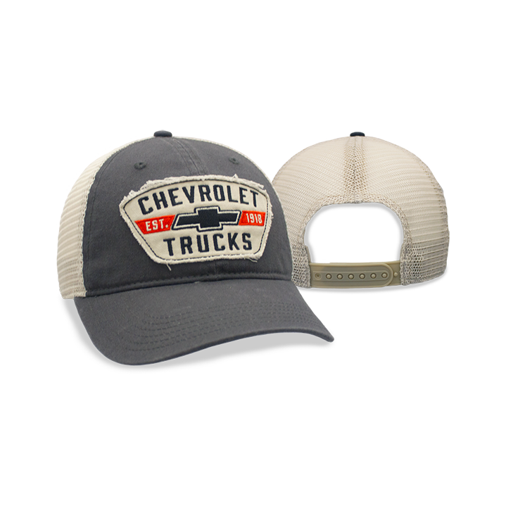 Chevrolet Grey Mesh Old School Chevy Truck Patch Cap