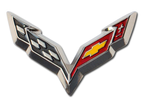 C7 Beveled Lapel Pin - GM Company Store