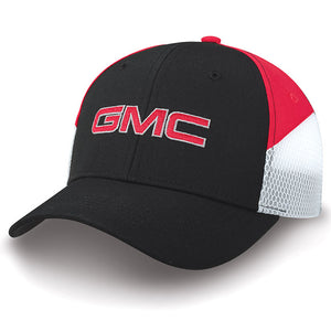 GMC Cap Black/Red Cap with Colorblock Sides