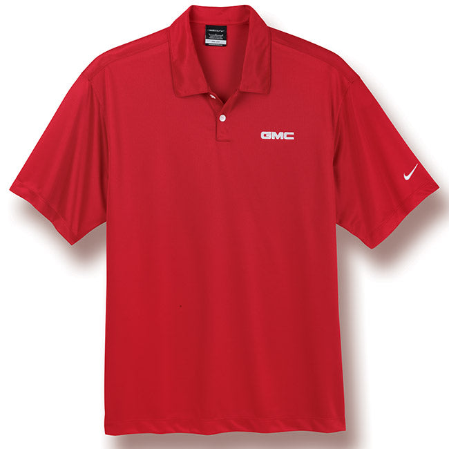 GMC Nike Pebble Texture Polo- Red - GM Company Store