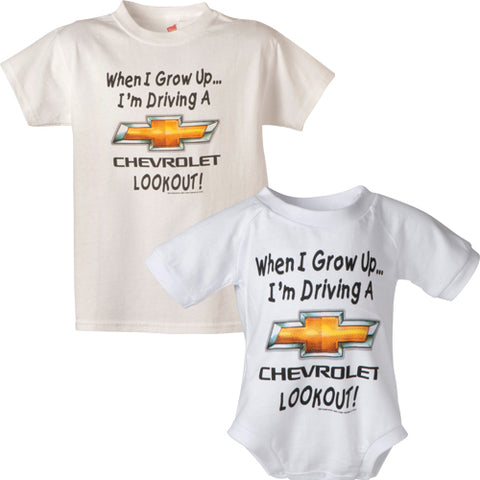 "Chevrolet Gold Bowtie ""When I Grow Up "" Toddler Tee - GM Company Store"