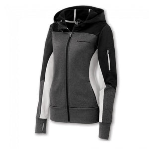 Ladies Camaro Full Zip Color Block Jacket- Black/Graphite/White - GM Company Store