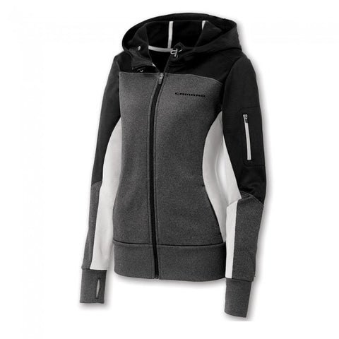 Ladies Camaro Full Zip Color Block Jacket- Black/Graphite/White