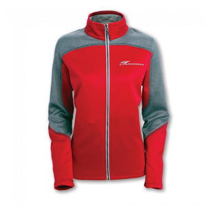 Ladies Camaro Swoosh Full-Zip Jacket- Red - GM Company Store