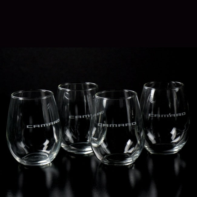 Camaro Stemless Wine Glass Set of 4 - GM Company Store