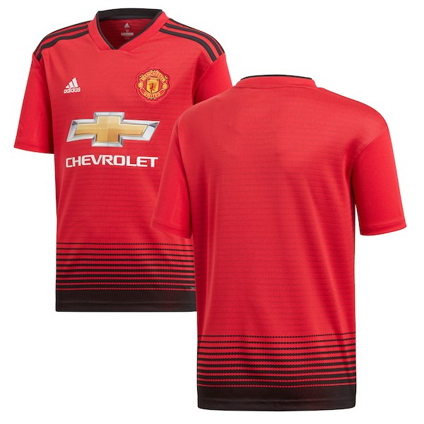 promo code 21342 0f181 Youth Official Manchester United 2018-19 Home Replica Jersey
