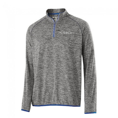 Volt Training 1/4 Zip- Heather/Royal