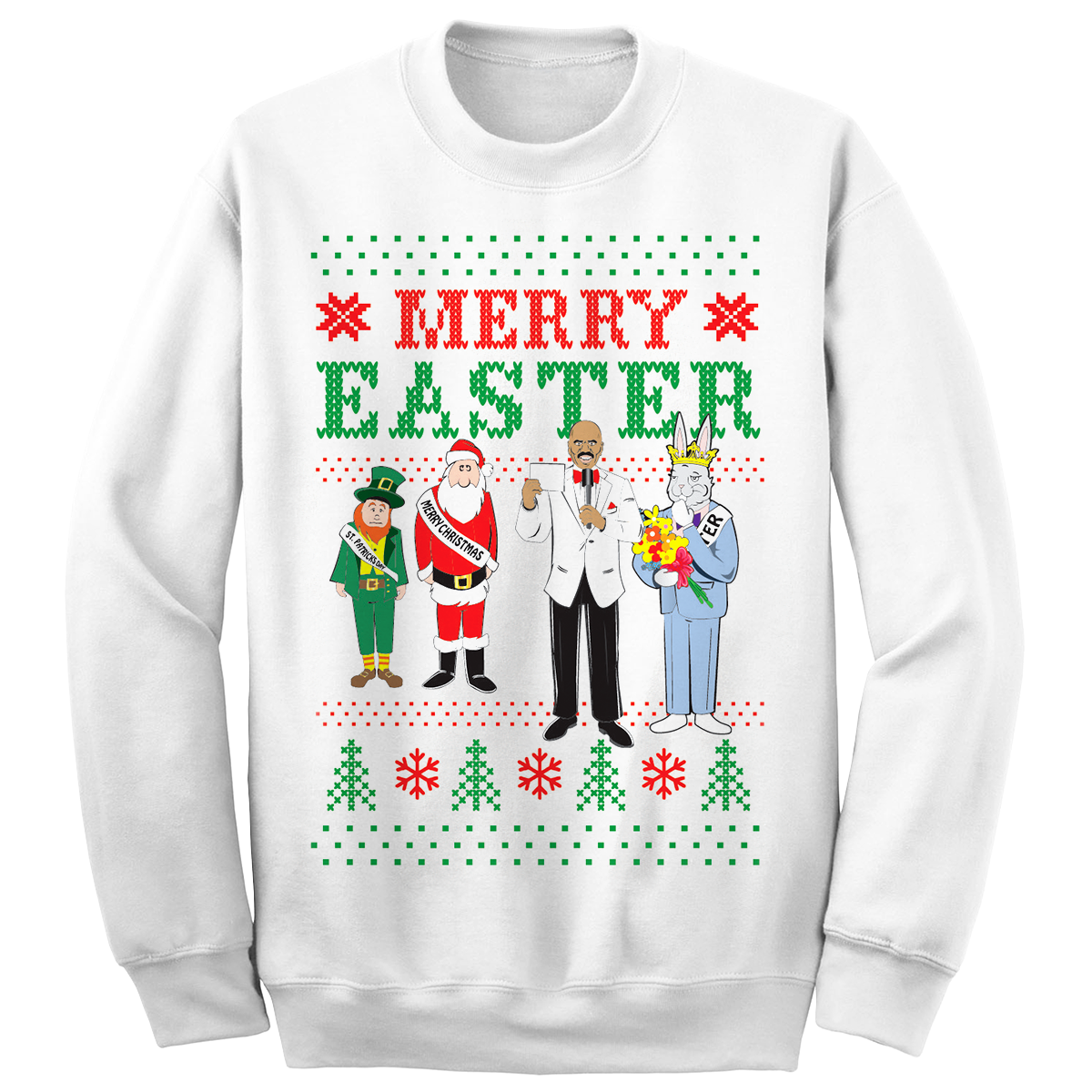 Steve Harvey Merry Easter Sweatshirt (White)