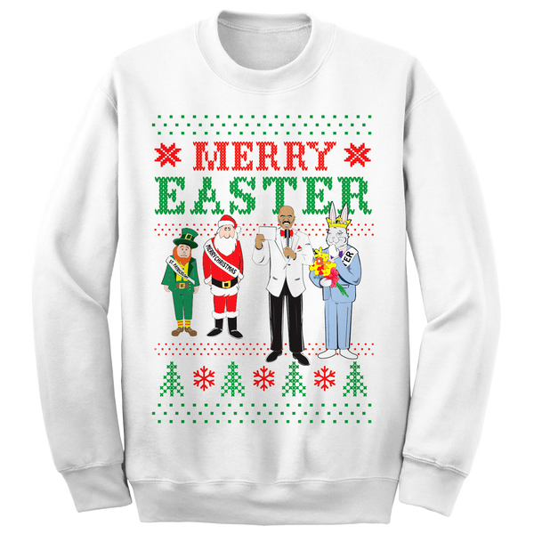 Merry Easter Sweatshirt (White)