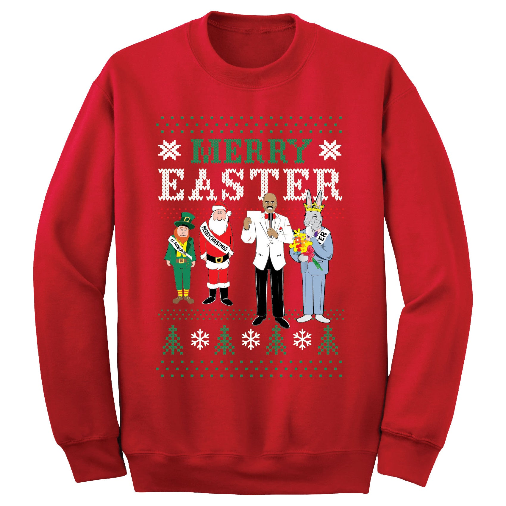 Merry Easter Sweatshirt (Red)