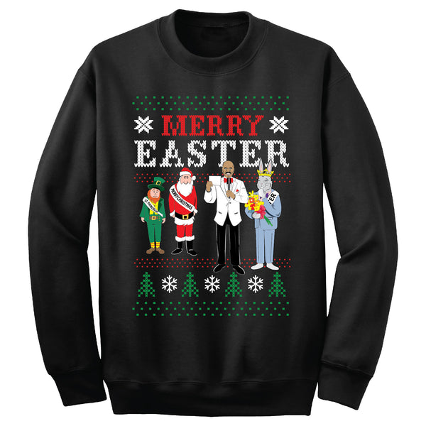 Merry Easter Sweatshirt (Black)