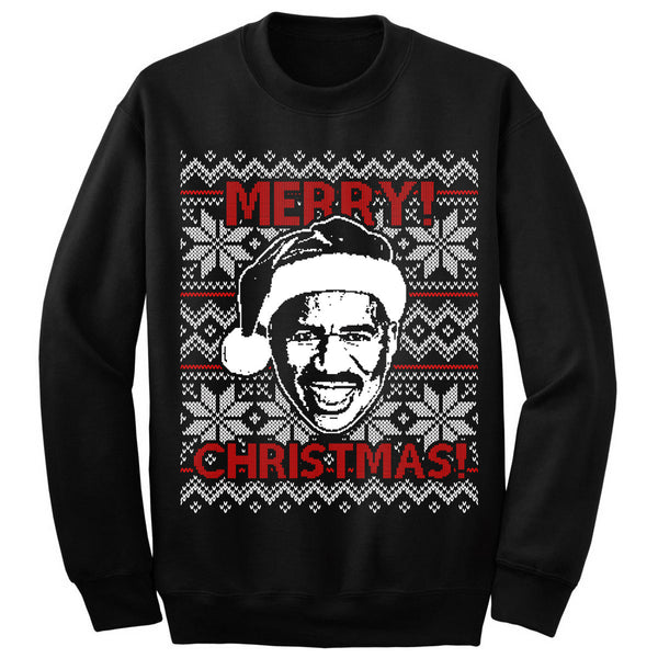 Steve Harvey Christmas Sweatshirt (Black)