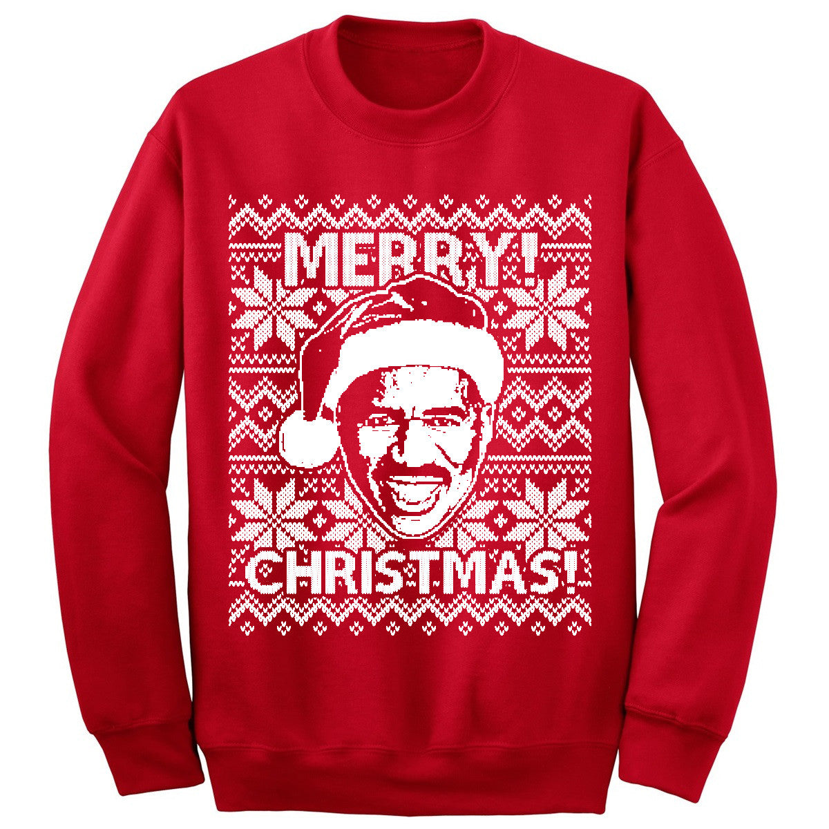 Steve Harvey Merry Christmas Sweatshirt Red