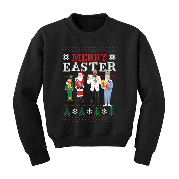 Kid's Merry Easter Sweatshirt (Black)