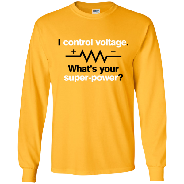 I Control Voltage - #Reasonistas LS T-Shirt (B&W)