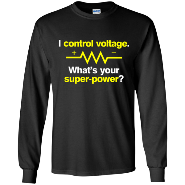 I Control Voltage - #Reasonistas LS T-Shirt (W&Y)