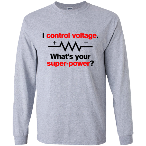 I Control Voltage - #Reasonistas LS T-Shirt (B&R)