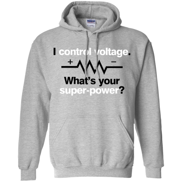 I Control Voltage - #Reasonistas Hoodie (B&W)