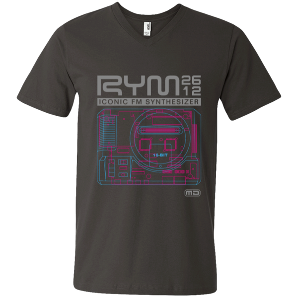 MD RYM2612 Mega Drive V-Neck T-Shirt (D)