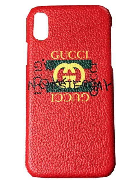 """d6c896dfdde Red Leather Gucci """" Common Sense"""" Case ( All Sizes ) ON SALE – NoFaceNoCase"""