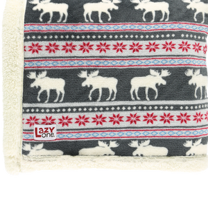 Moose Fair Isle Blanket