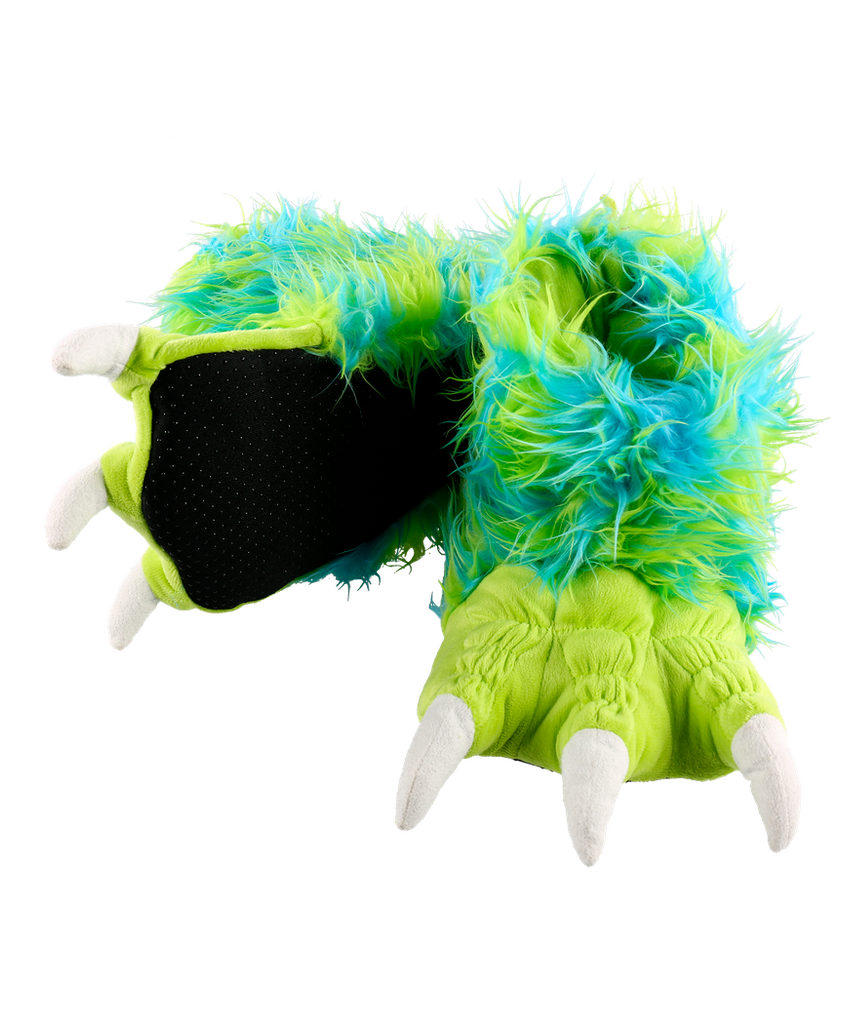 Green Monster Paw Slipper