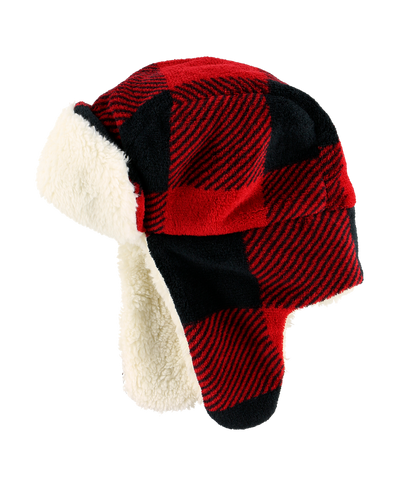 Red Plaid Bomber Critter Cap