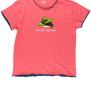 Turtley Awesome Womens PJ Tee