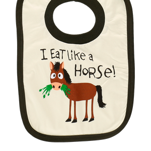Eat Like Horse Bib