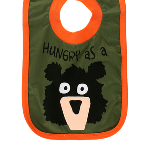 Hungry as a Bear Girl Bib
