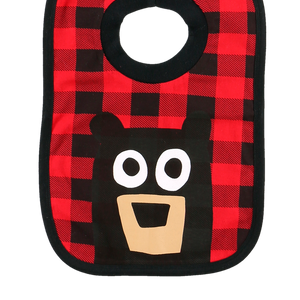 Bear Plaid Bib