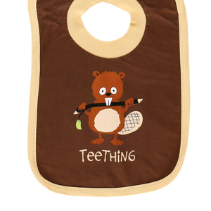Teething Brown Bib